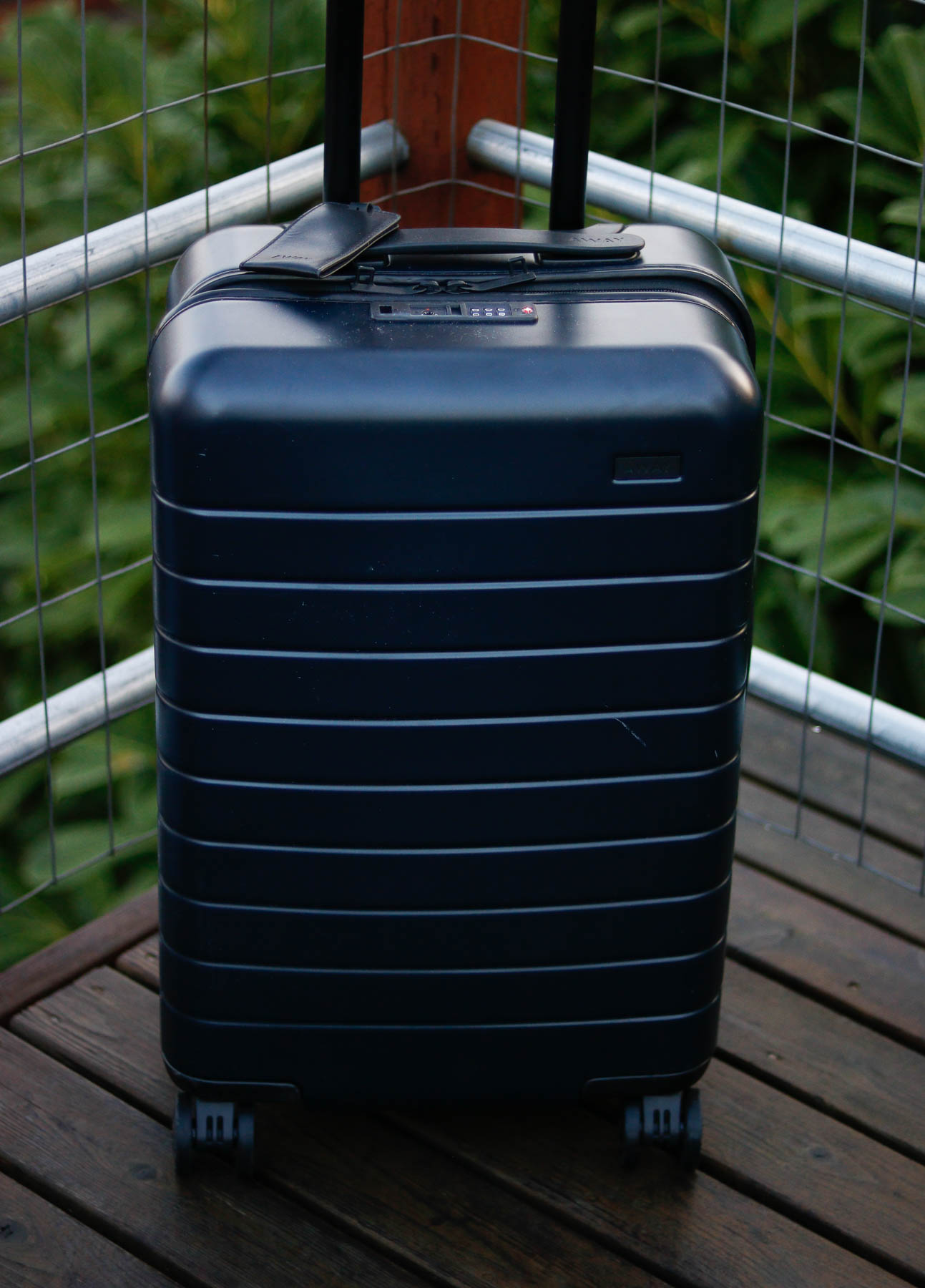 Away carry on bag.