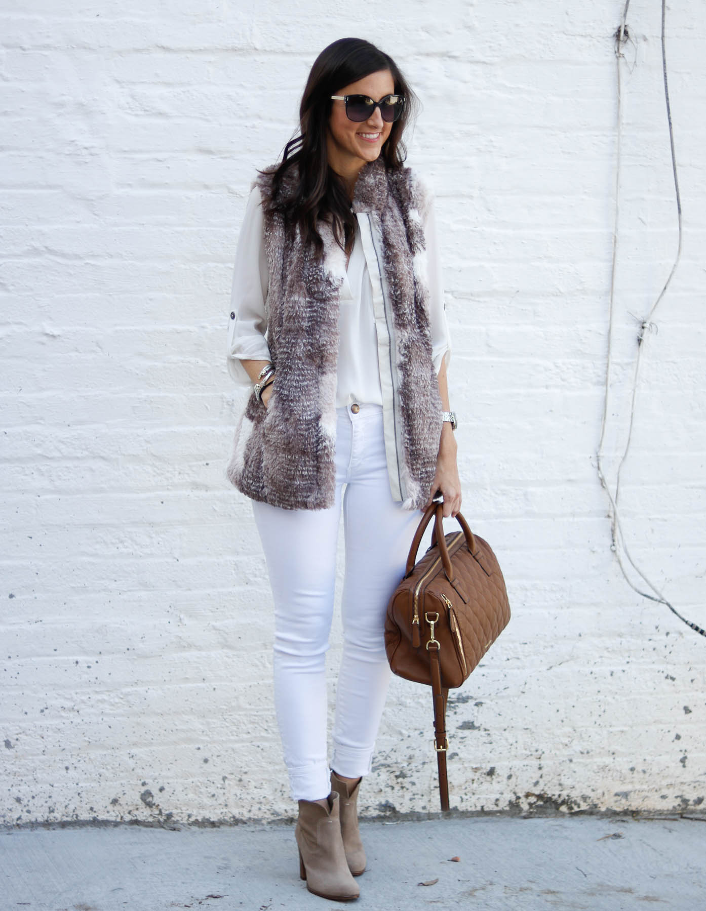 Fall Neutrals + The Perfect Faux Fur Vest