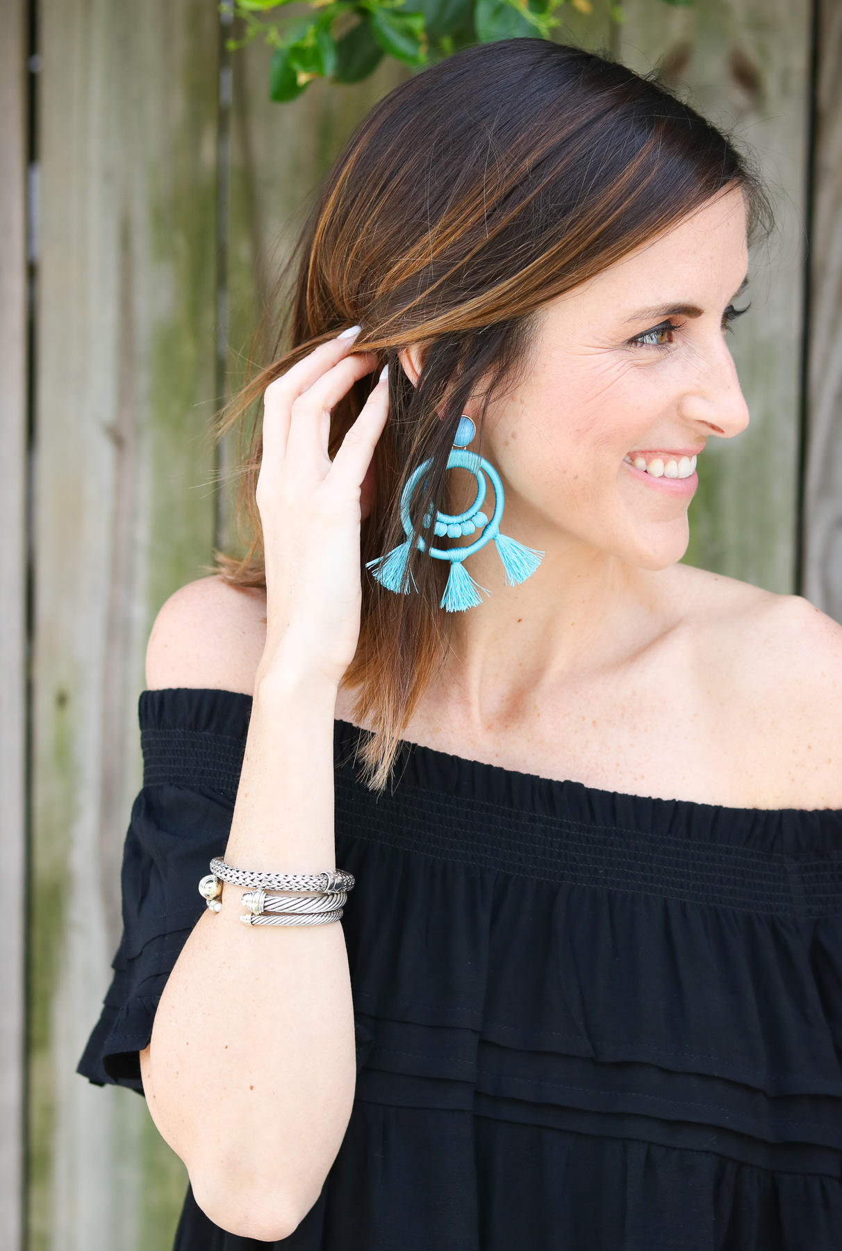 Turquoise Statement Earrings @cobaltchronicle