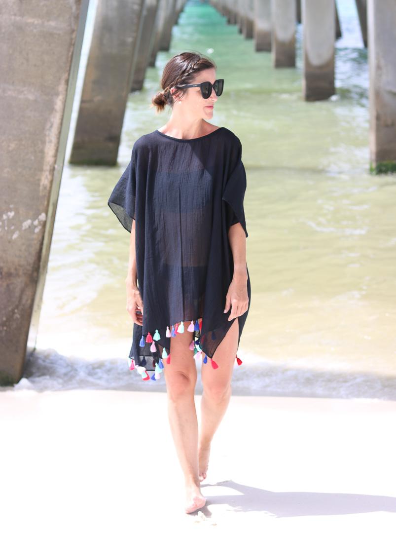Tassel Beach Cover Up | Cobalt Chronicles | Style Blogger