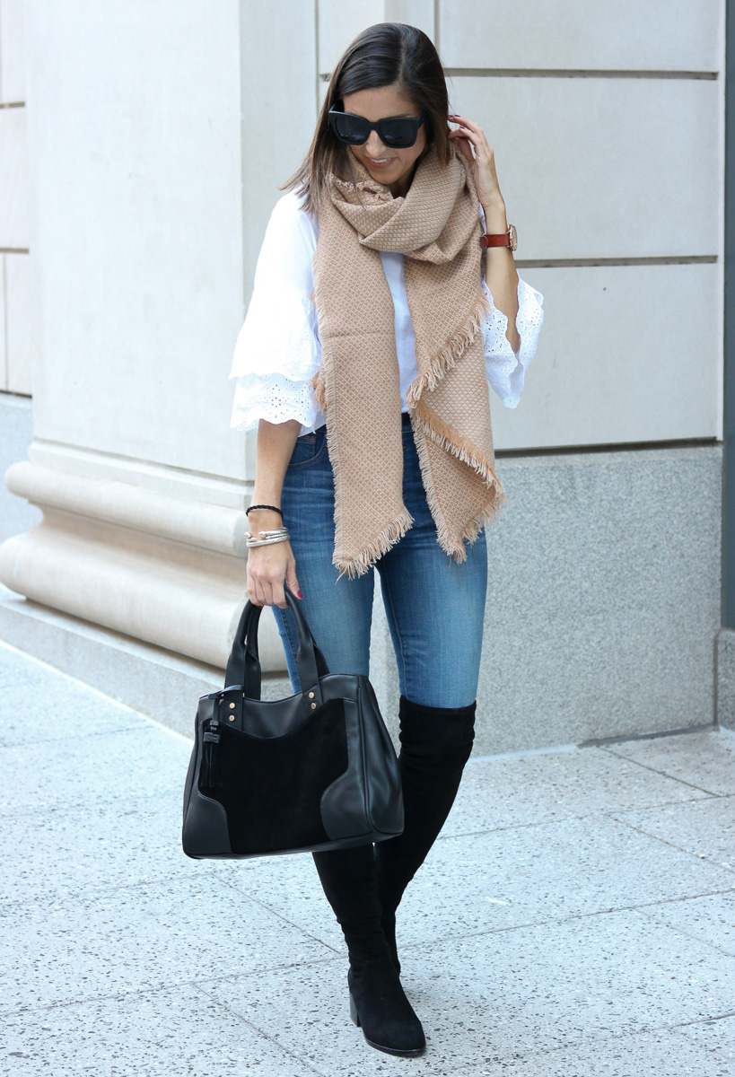 Oversized Scarf | Over the Knee Boots