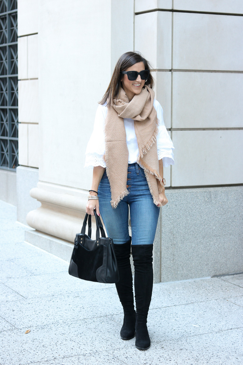 Bag, Boots, and Scarf for Fall