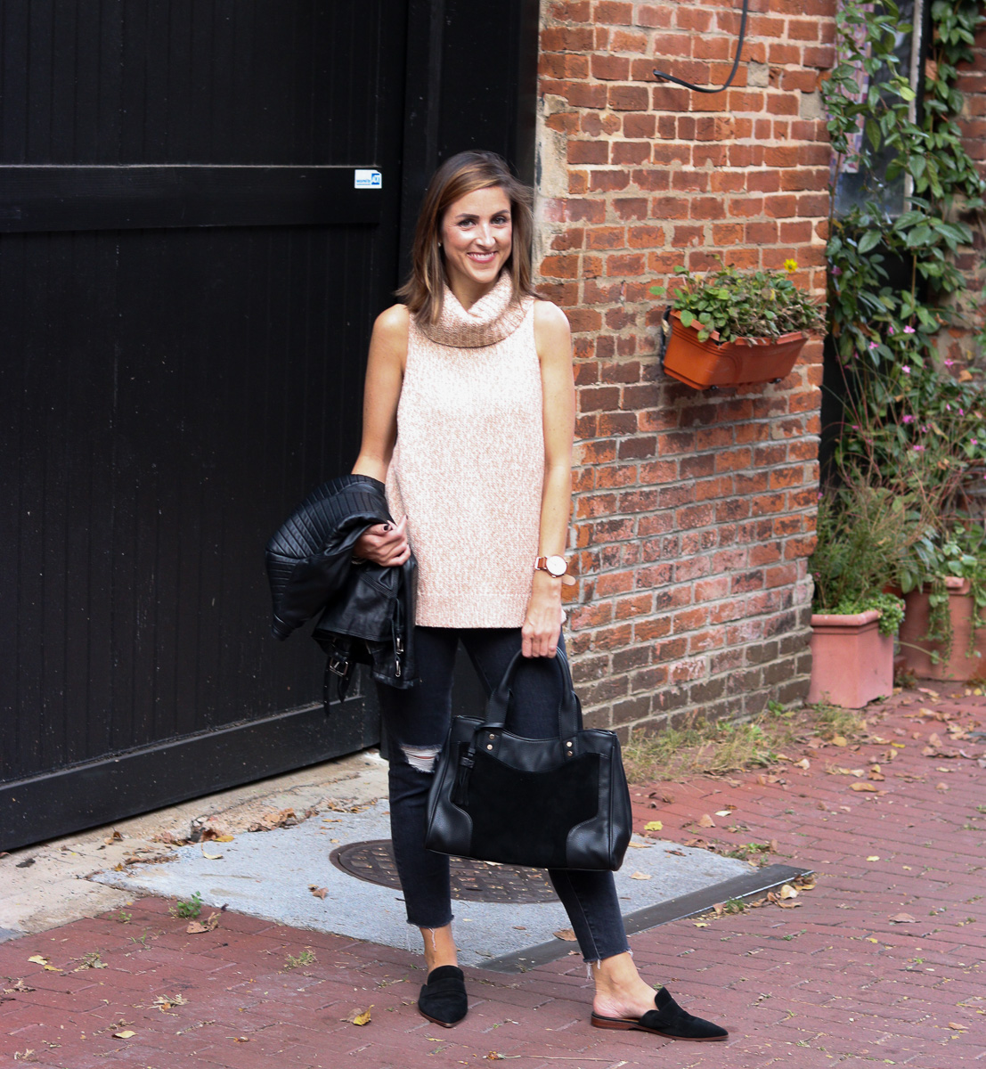 Perfect Neutral Look for Fall / Madewell Sweater On Major Mark Down