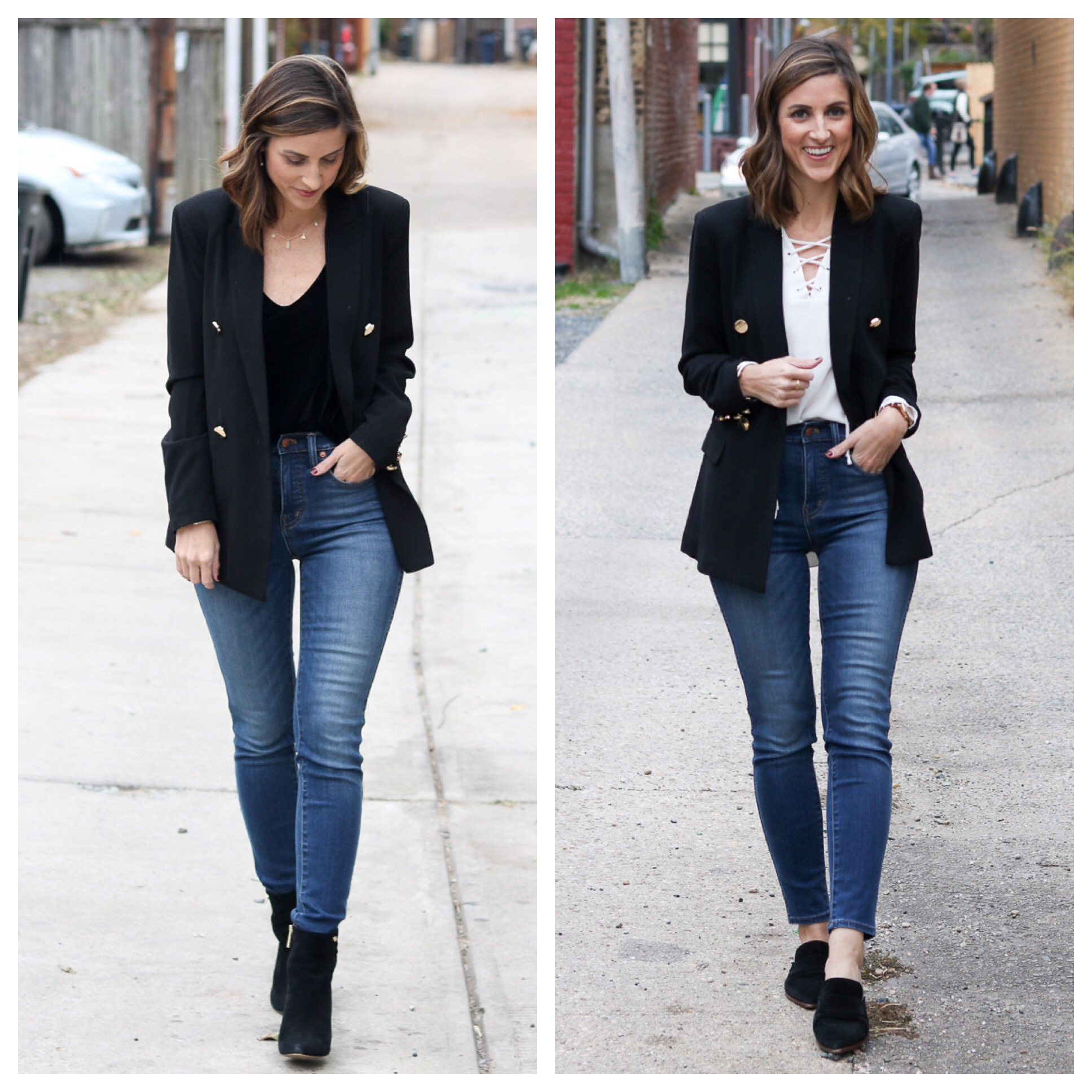 Black Blazer Styled Two Ways | Cobalt Chronicles | Washington, DC | Fashion Blog