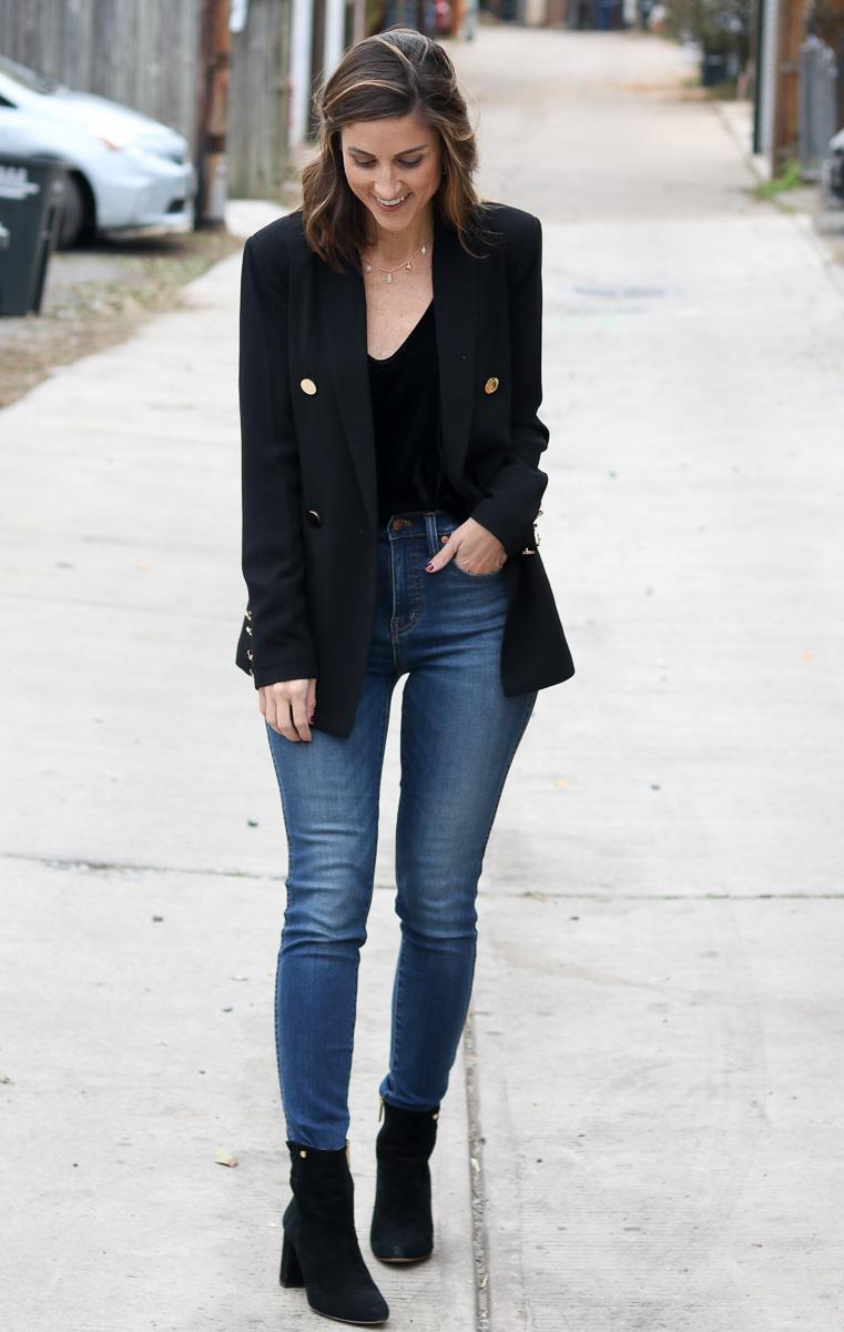 Black Blazer Styled Two Ways | Cobalt Chronicles | Washington, DC | Fashion Blogger